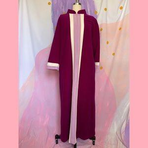 VINTAGE Vanity Fair 60s Classic Pink Striped Robe